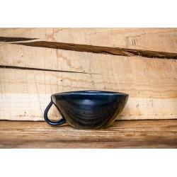 Opschuimbakje zwart stoneware